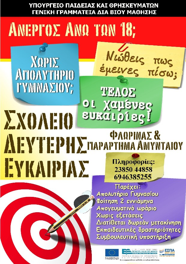 Αφίσα ΣΔΕ Φλώρινας